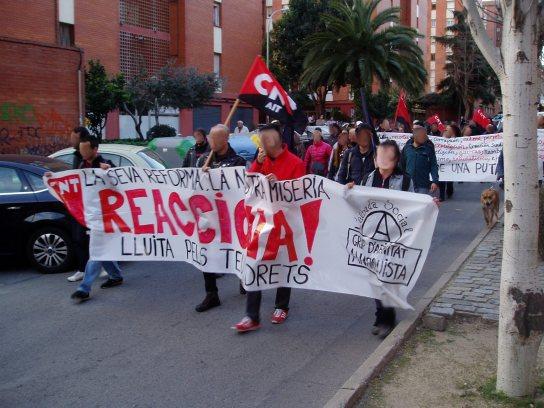 Manifestació del SOV  pel Pla d'en Boet.