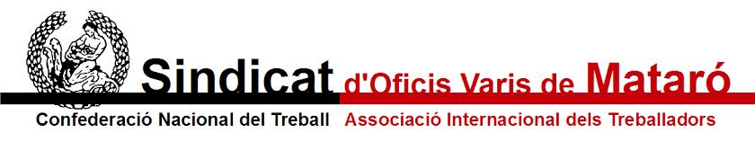 Vaga8novembre   COMUNICAT DEL SOV DE MATARÓ DE LA CNT-AIT En relació a la vaga general convocada a Catalunya el 8 de novembre volem comunicar la nostra adhesió a la mateixa. Creiem que...